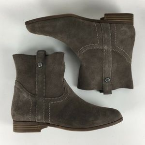 Frye Grey Suede Sarah Shortie Ankle Boots size 8m